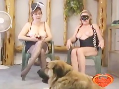 Zoophilia with her dog in front of the webcam