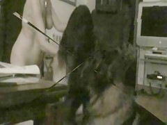 Metiendo la morcilla en su perrita