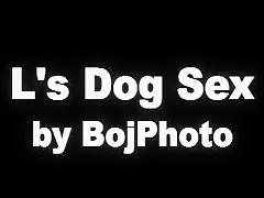 Una chica y su perro, caliente zoofilia