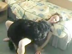 Con el perro y mi consolador
