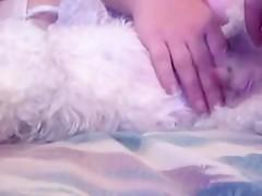Trio con el perro